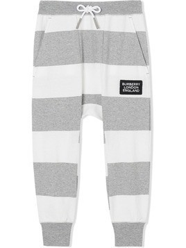 Burberry Kids striped track pants - Grey