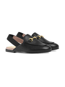 Gucci Kids Toddler Princetown leather slipper - Black