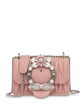 Miu Miu Miu Lady matelassé shoulder bag - Pink