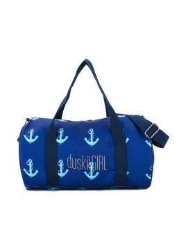 Duskii Girl anchor print duffle bag - Blue