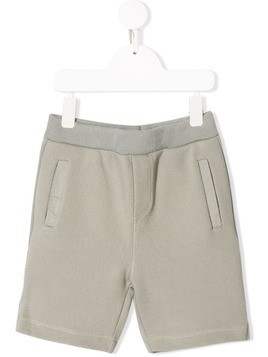 Bonpoint plain track shorts - Green