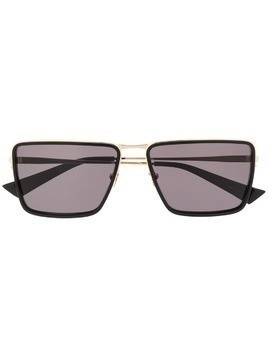 Christian Roth square tinted sunglasses - Black