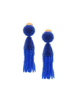 Oscar de la Renta tassel drop earrings - Blue