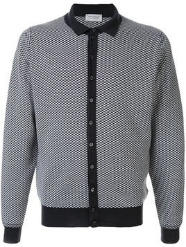 John Smedley button shirt cardigan - Black