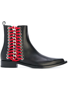 Alexander McQueen Braided Chain ankle boot - Black