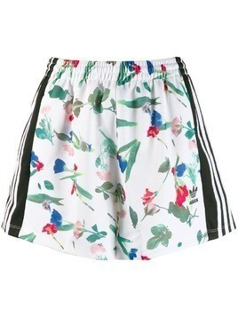 Adidas all over print shorts - White