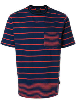 Ps By Paul Smith - multi-stripe shirt - Herren - Organic Cotton - L - Blue