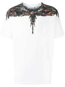 Marcelo Burlon County Of Milan scratched wings print T-shirt - White