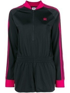 Adidas contrast sleeve playsuit - Black