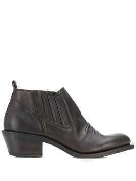 Fiorentini + Baker stitched-detail ankle boots - Brown