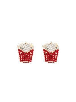 Browns X Sara Shakeel gold-tone crystal earrings - Red