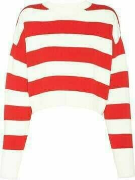 Miu Miu embroidered logo striped jumper