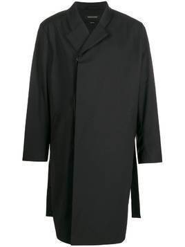 Odeur boxy fit double-breasted coat - Black