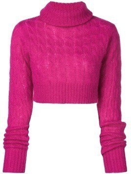 Matthew Adams Dolan turtleneck cable knit sweater - Pink