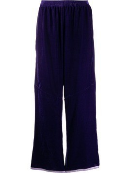 Mm6 Maison Margiela multi-wear zip track pants - Purple