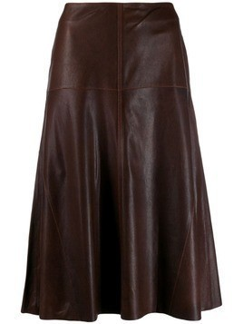 Arma high-waisted skirt - Brown