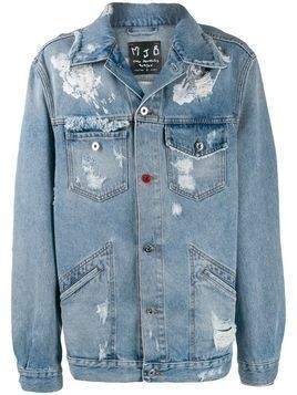 Mjb distressed denim jacket - Black
