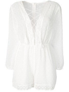 Jovonna embroidered playsuit - White
