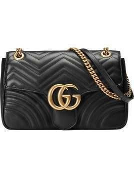 1719aa8accc14 Gucci GG Marmont medium matelassé shoulder bag - Black