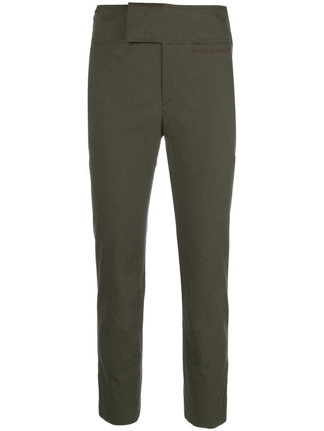 Isabel Marant cropped chinos - Green