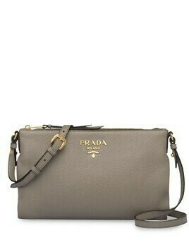 Prada logo plaque shoulder bag - Grey