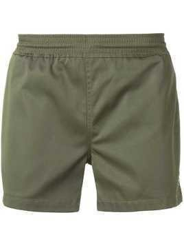 Ron Dorff fitted track shorts - Green
