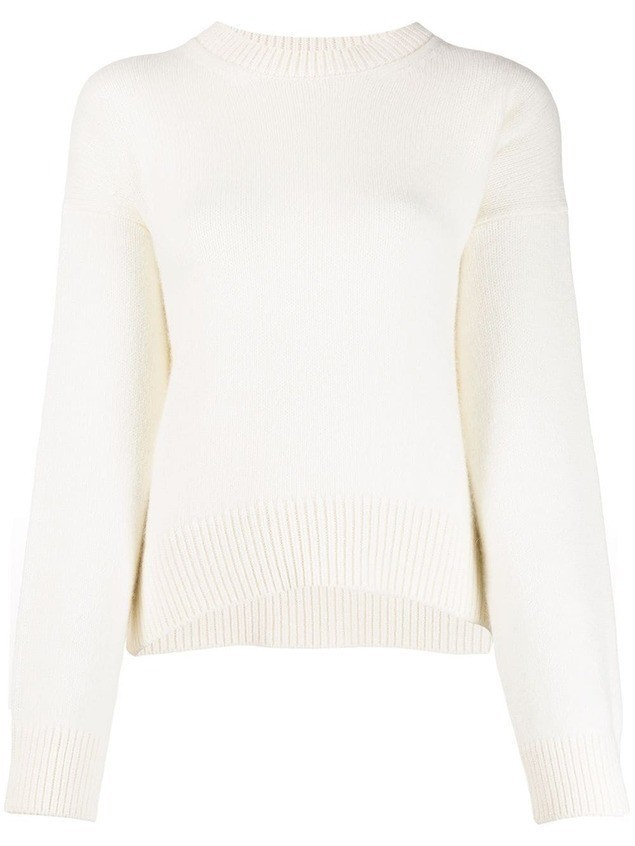 Laneus crew neck jumper - White