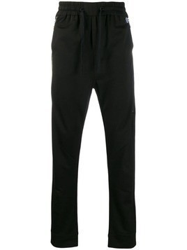 John Richmond side logo print track pants - Black