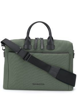 Troubadour Pathfinder slim briefcase - Green