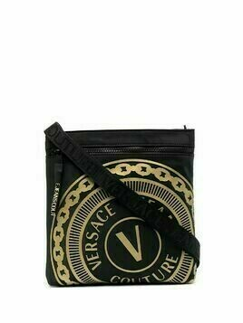 Versace Jeans Couture logo-embossed zipped bag - Black