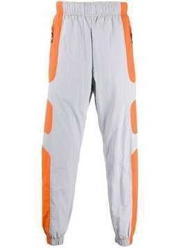 Nike contrast panel track pants - ORANGE