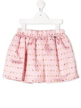 Harmont & Blaine Junior micro pattern skirt - PINK