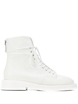 Marsèll back zip fastening boots - White