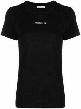 Moncler logo-embroidered T-shirt - Black