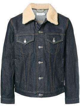 Coach shearling collar denim jacket - Blue
