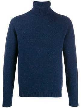Malo rollneck knit sweater - Blue