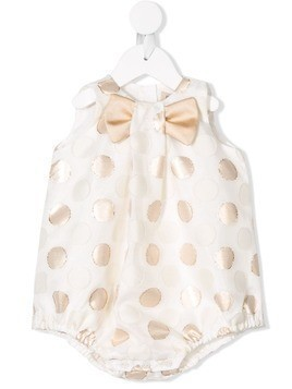 Hucklebones London polka-dot romper - White