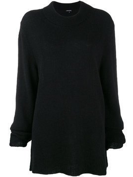Ann Demeulemeester overturned neck sweater - Black