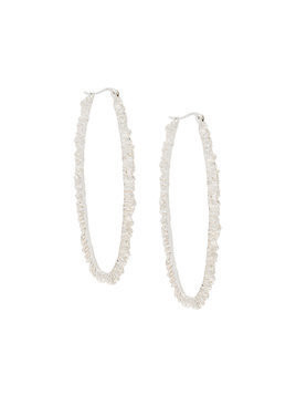 Niza Huang Under Earth texture hoop earrings - Metallic