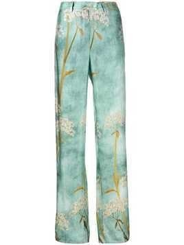F.R.S For Restless Sleepers printed straight leg trousers - Blue