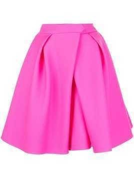 Dice Kayek flared pleated skirt - PINK
