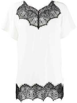 Escada Sport scalloped lace T-shirt - White