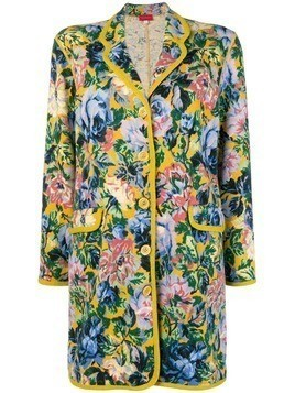 Kenzo Pre-Owned floral midi jacket - Yellow