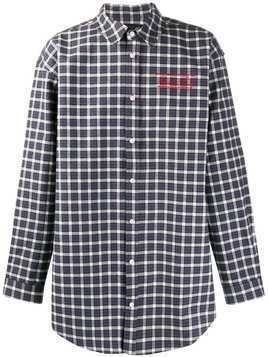 Martine Rose checked print long sleeve shirt - Blue