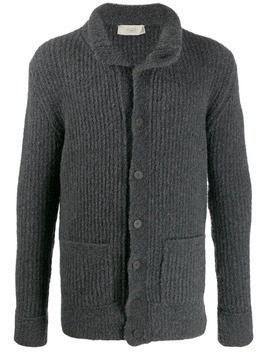 Maison Flaneur slim-fit knitted cardigan - Grey