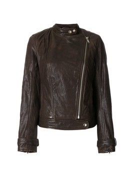 Dondup zipped biker jacket - Brown