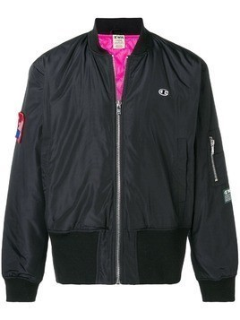 Champion X Wood Wood branded bomber jacket - Black