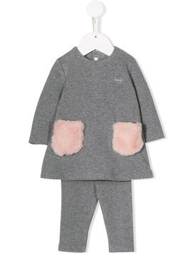 Il Gufo two-tone pajama set - Grey