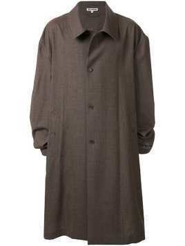 Hed Mayner ruched sleeve coat - Brown
