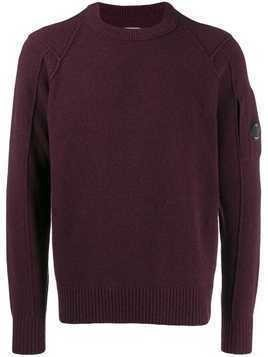 CP Company sleeve pocket jumper - Purple